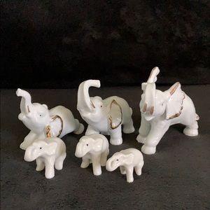 Lot of 6 Porcelain Elephants